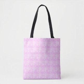 Bolsa Tote O cerâmico-olhar cor-de-rosa telhou o teste padrão