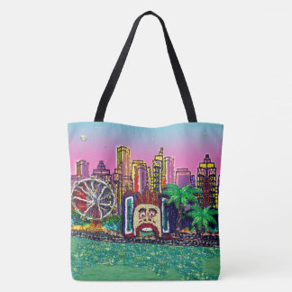 Bolsa Tote O céu cor-de-rosa de Sydney pelo Sequin sonha o