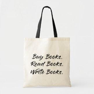 Bolsa Tote O comprar, escreve, lê Totebag