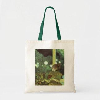 Bolsa Tote O concerto por Edgar Degas, belas artes do café do