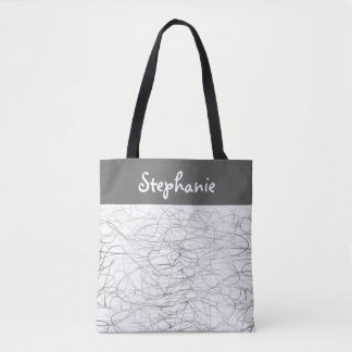 Bolsa Tote o costume personalizou o design do scribble do