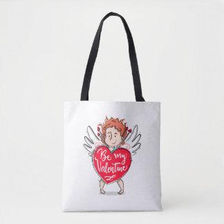 Bolsa Tote O Cupido bonito seja minha sacola dos namorados
