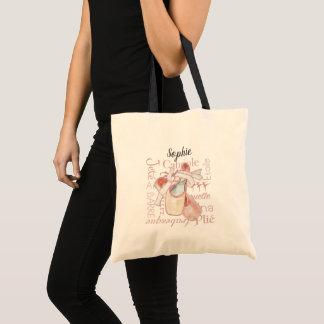 Bolsa Tote O dançarino de balé personalizou o saco da
