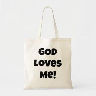 Bolsa Tote O deus ama-me! Sacola religiosa do provérbio