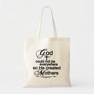 Bolsa Tote O deus não poderia estar em toda parte assim que