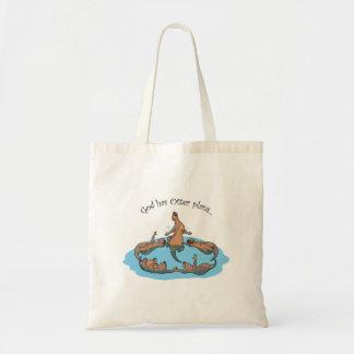 Bolsa Tote O deus tem a sacola dos planos da lontra…