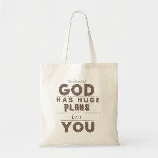 Bolsa Tote O deus tem planos enormes para você sacola