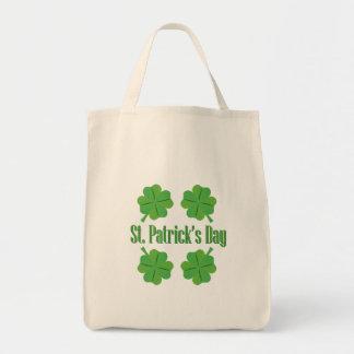 Bolsa Tote O dia de Patrick com trevo