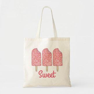 Bolsa Tote O Eclair doce do rosa da morango estala o saco dos