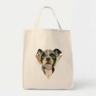 """Bolsa Tote O """"filhote de cachorro Eyes"""" a aguarela do cão do"""
