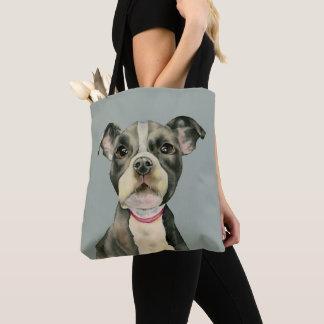 """Bolsa Tote O """"filhote de cachorro Eyes"""" a pintura da aguarela"""