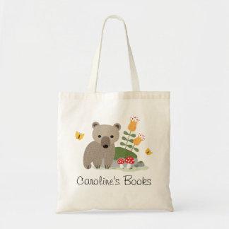 Bolsa Tote O filhote e as borboletas de urso personalizaram o