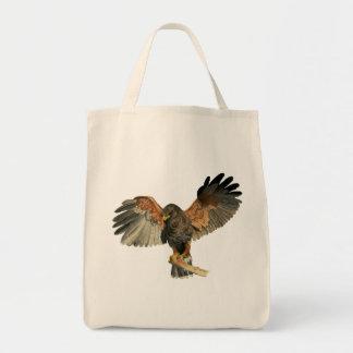 Bolsa Tote O Flapping do falcão voa a pintura da aguarela