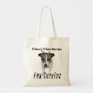 Bolsa Tote O Fox Terrier e uma casa é um logotipo Home,