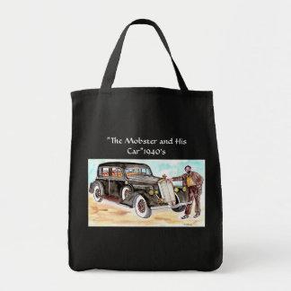 """Bolsa Tote O gangster e seus anos 40 do carro - """"equipe a"""