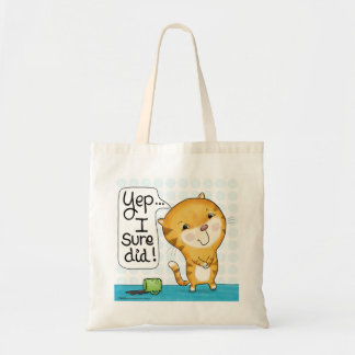 Bolsa Tote O gato de Cattitude- derrama o café
