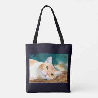 Bolsa Tote O gato de gato malhado branco alaranjado pode nós