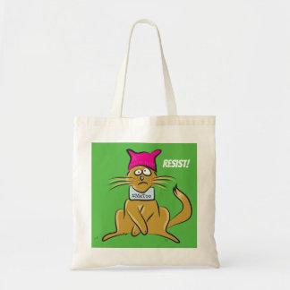 Bolsa Tote O gato do bichano resiste a sacola