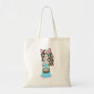 Bolsa Tote o gato está no saco