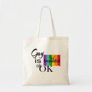 Bolsa Tote O gay do orgulho de LGBTQIA é ok.OK bonito. Amor