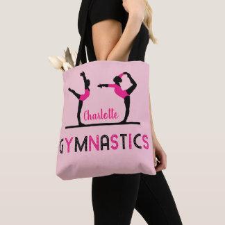 Bolsa Tote O Gymnast figura a ginástica bonito das meninas