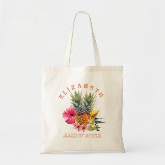 Bolsa Tote O Hawaiian floresce a dama de honra dos abacaxis