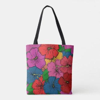 Bolsa Tote O hibiscus floresce #5