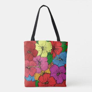 Bolsa Tote O hibiscus floresce #6