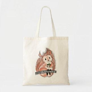 Bolsa Tote O inverno: Ilustração do feriado do esquilo