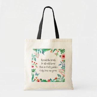 Bolsa Tote O jardim do deus inspirado do poema floral