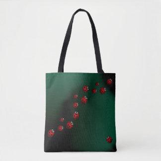 Bolsa Tote O joaninha ensaca sacolas bonitos da arte da