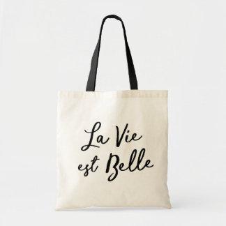 Bolsa Tote O La vie a sacola do belle do est (a vida é