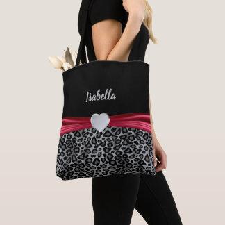 Bolsa Tote O leopardo cinzento personaliza o design
