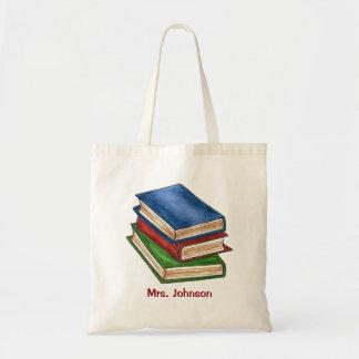 Bolsa Tote O livro personalizado da biblioteca registra o