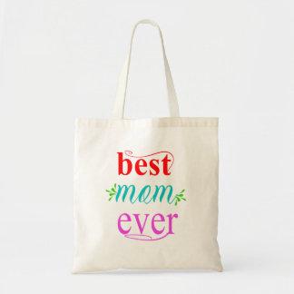 Bolsa Tote O melhor presente da sacola da mamã nunca para a