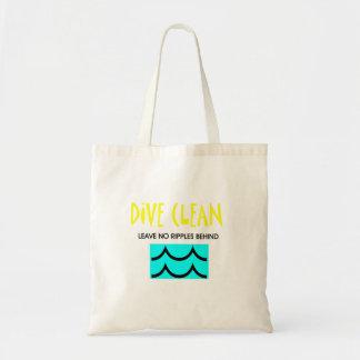 Bolsa Tote O mergulho SUPERIOR não limpa nenhuma ondinha