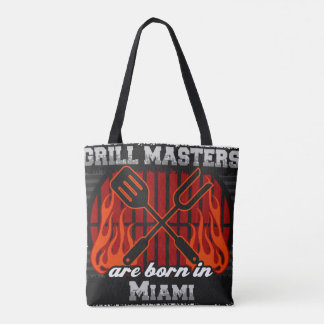 Bolsa Tote O mestrado da grade é nascido em Miami Florida