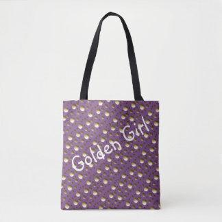 Bolsa Tote O ouro chique pontilha o saco do Lilac para a