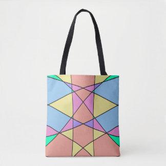 Bolsa Tote O Pastel geométrico dá forma a trabalhos de arte