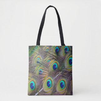 Bolsa Tote O pavão empluma-se o saco de compras bonito do