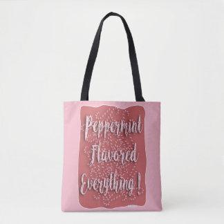 Bolsa Tote O Peppermint do amor Flavored tudo