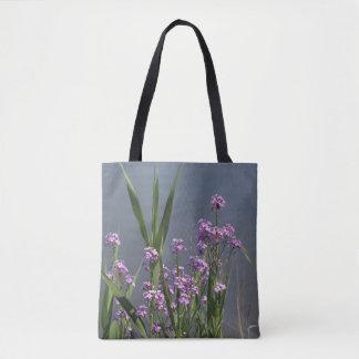 Bolsa Tote O Phlox roxo do verão floresce a sacola