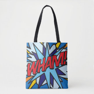 Bolsa Tote O pop art da banda desenhada WHAM! GOLPE!