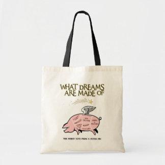 Bolsa Tote O porco do vôo Corte-Que sonha é feito de