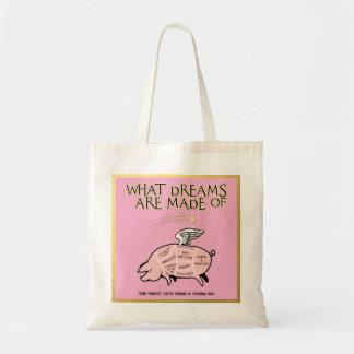 Bolsa Tote O porco do vôo cortou Diagrama-Que sonha é feito