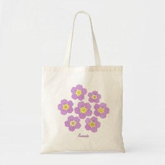 Bolsa Tote O primavera floresce flora roxa a sacola