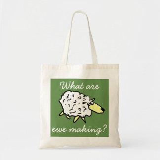 """Bolsa Tote """"O que são fazer da ovelha?"""" Saco do projeto dos"""