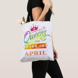 Bolsa Tote O Queens é em abril presente de aniversário