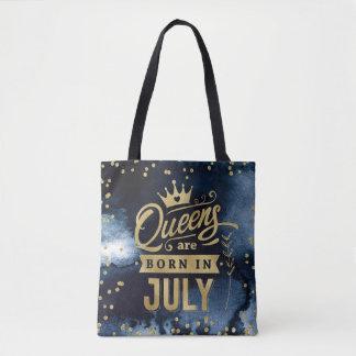 Bolsa Tote O Queens é em julho aniversário nascido da