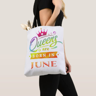 Bolsa Tote O Queens é em junho presente de aniversário